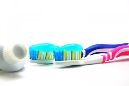 Dental brush and paste