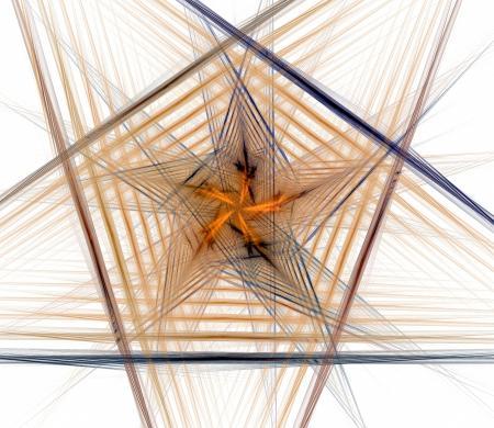 Design element in the shape of a pentago