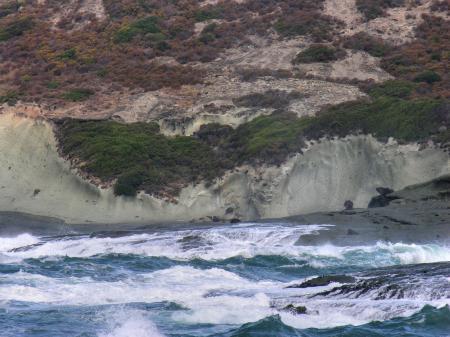 Detail of the coast of Sardinia in Italy