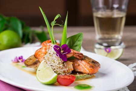 Dish of Salmon with Lime
