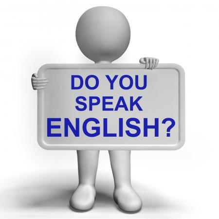 Do You Speak English Sign Showing Language Learning