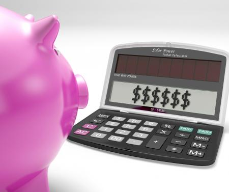 Dollars In Calculator Shows Rich American Fortune