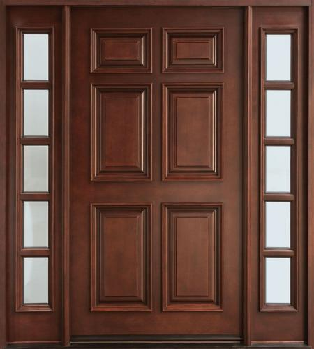 Wooden door pattern
