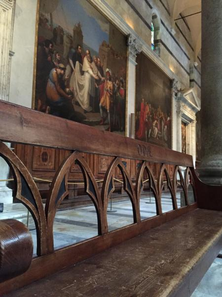 Duomo Church Bench