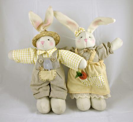 Easter rabbit dolls