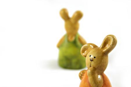 Easter rabbits - one closeup