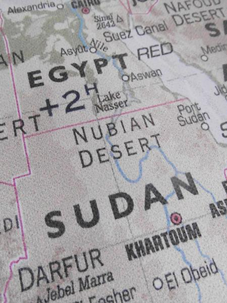 Egypt and Sudan Map