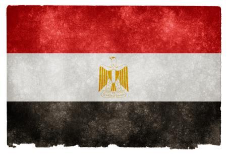 Egypt Grunge Flag