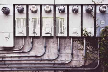 Eight Electrical Metric Meters
