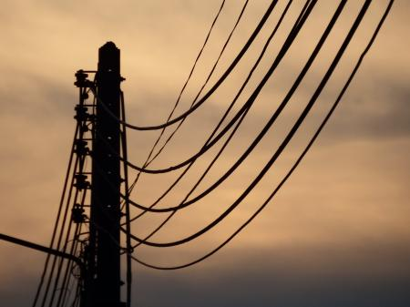 Electricity Lines Silhouette