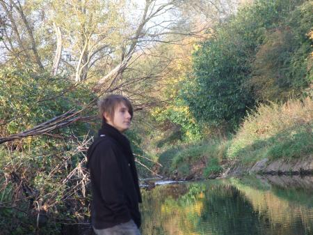 Emo kid in Nature