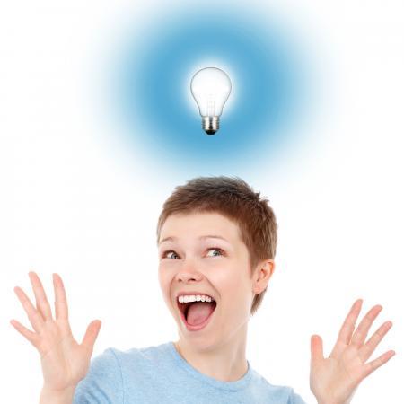 Eureka moment - Woman having an idea