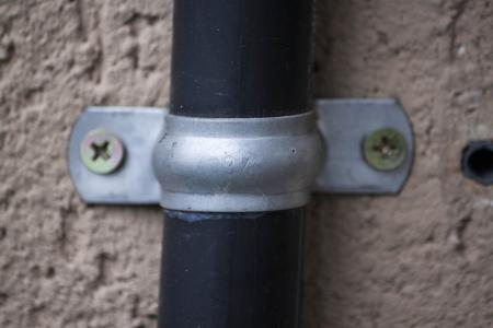 Exterior tube with bracket