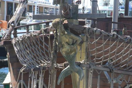 Figure of a mermaid on a ship