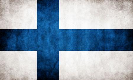 Finland Grunge Flag