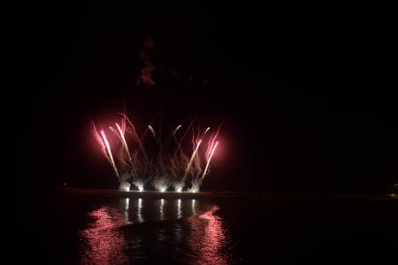 Fireworks Reflected in the Water