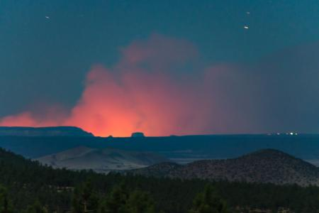 Flagstaff view of Fuller Fire (GCNP)