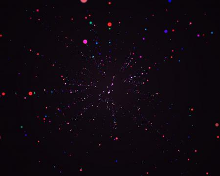 Flying particles