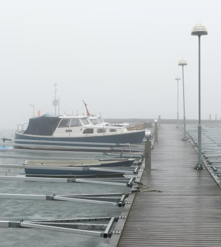 Fog and ice at Rixö boat club 5
