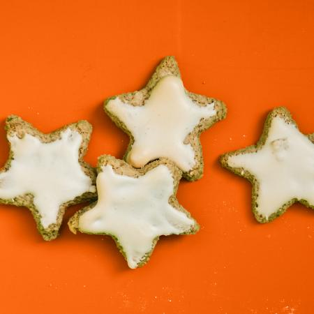 Four Star Shaped Cookies