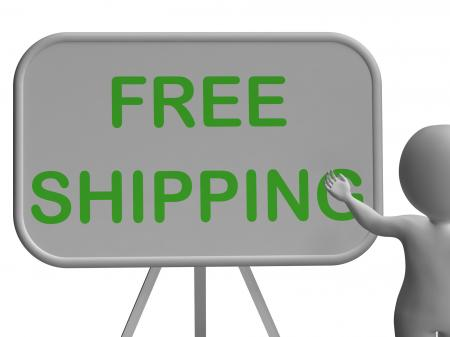 Free Shipping Whiteboard Shows Item Shipped At No Cost