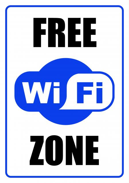 FREE WiFi Zone - Sign