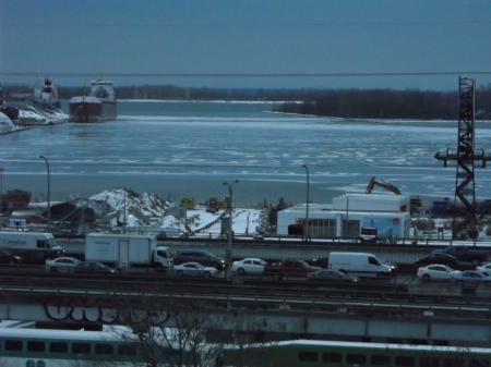 Frozen Toronto harbour, 2018 01 31 -k
