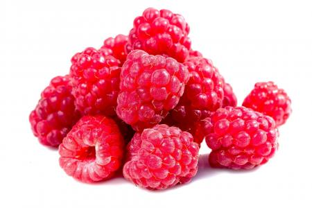 Fruits of raspberry