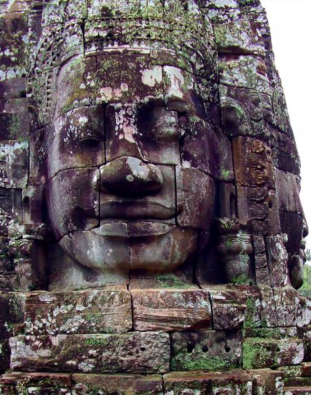 Giant faces of the ancient Bayon Temple