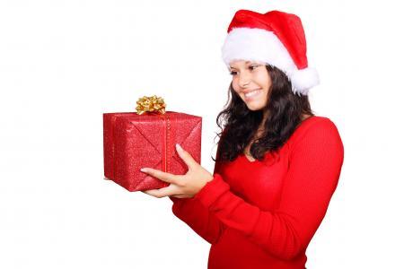 Girl on Christmas