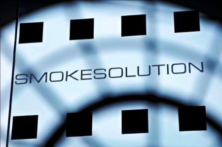 Glass design for smokesolution
