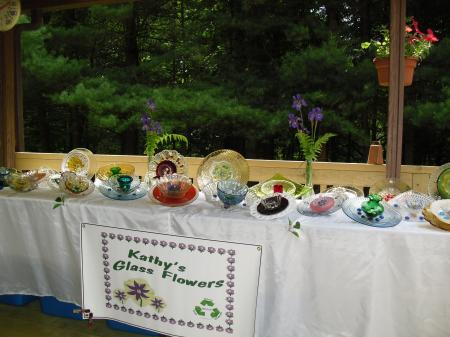 Glass Flower Display