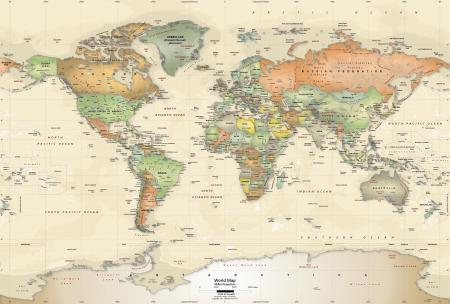 Globe Atlas Background