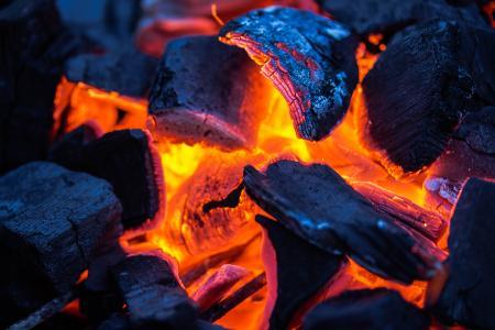 Glowing Wood Charcoal