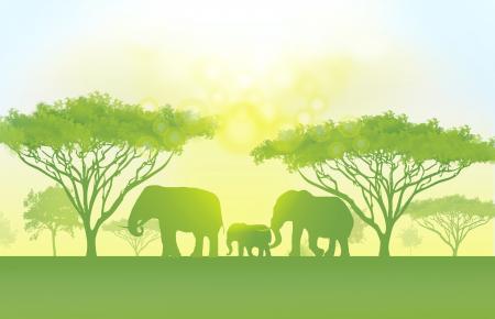 Go Green Concept - A beautiful world