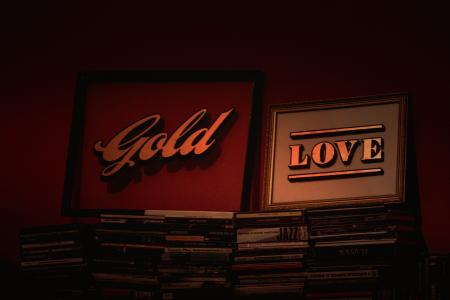 Gold and Love Posters With Frames