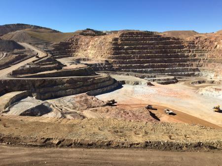 Gold mine view
