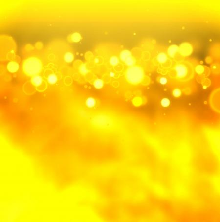 Golden bokeh on gold background