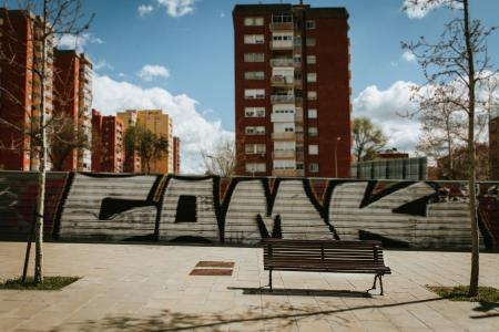 graffiti on the fence