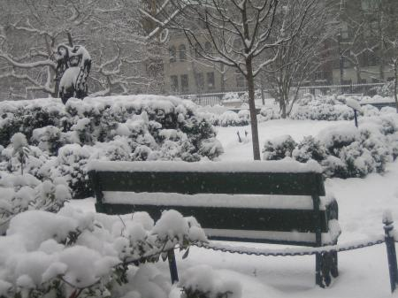 Gramercy Park in the winter