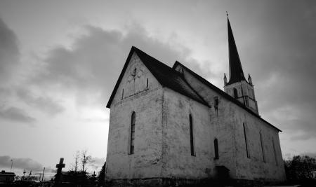 Gray Scale Photo of Church