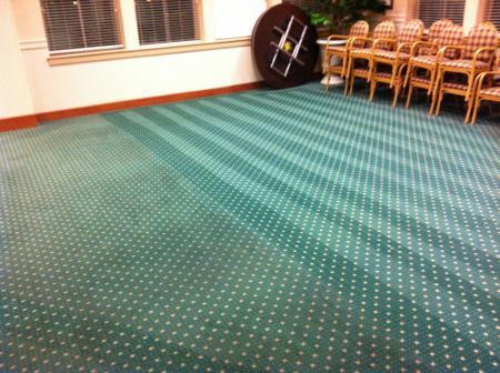 Green dirty carpet