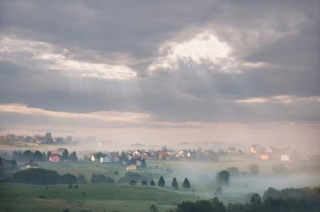 Green Grass Field during Cloudy Sky