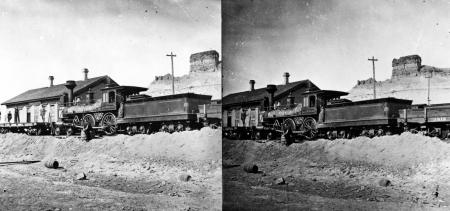 Green River Station. Sweetwater County, Wyoming. 1869.