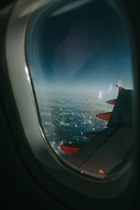 Grey Airplane Window