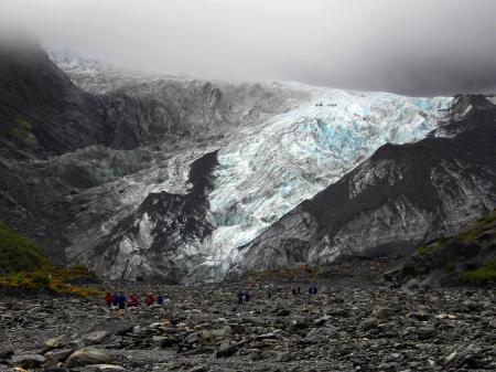 Grey Blue Glacier Mountain