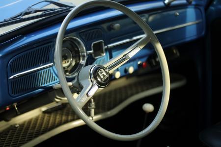 Grey Classic Car Steering Wheel