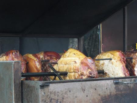 Grilled Ham in Prague