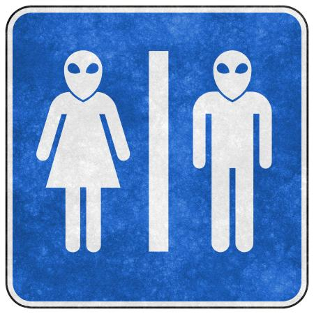 Grunge Sign - Alien Toilet
