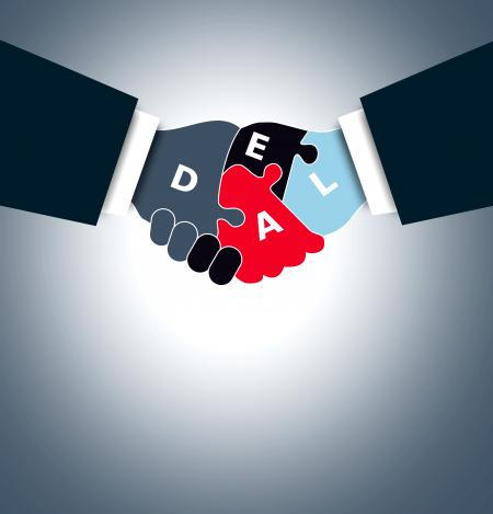 Handshake - Business deal concept